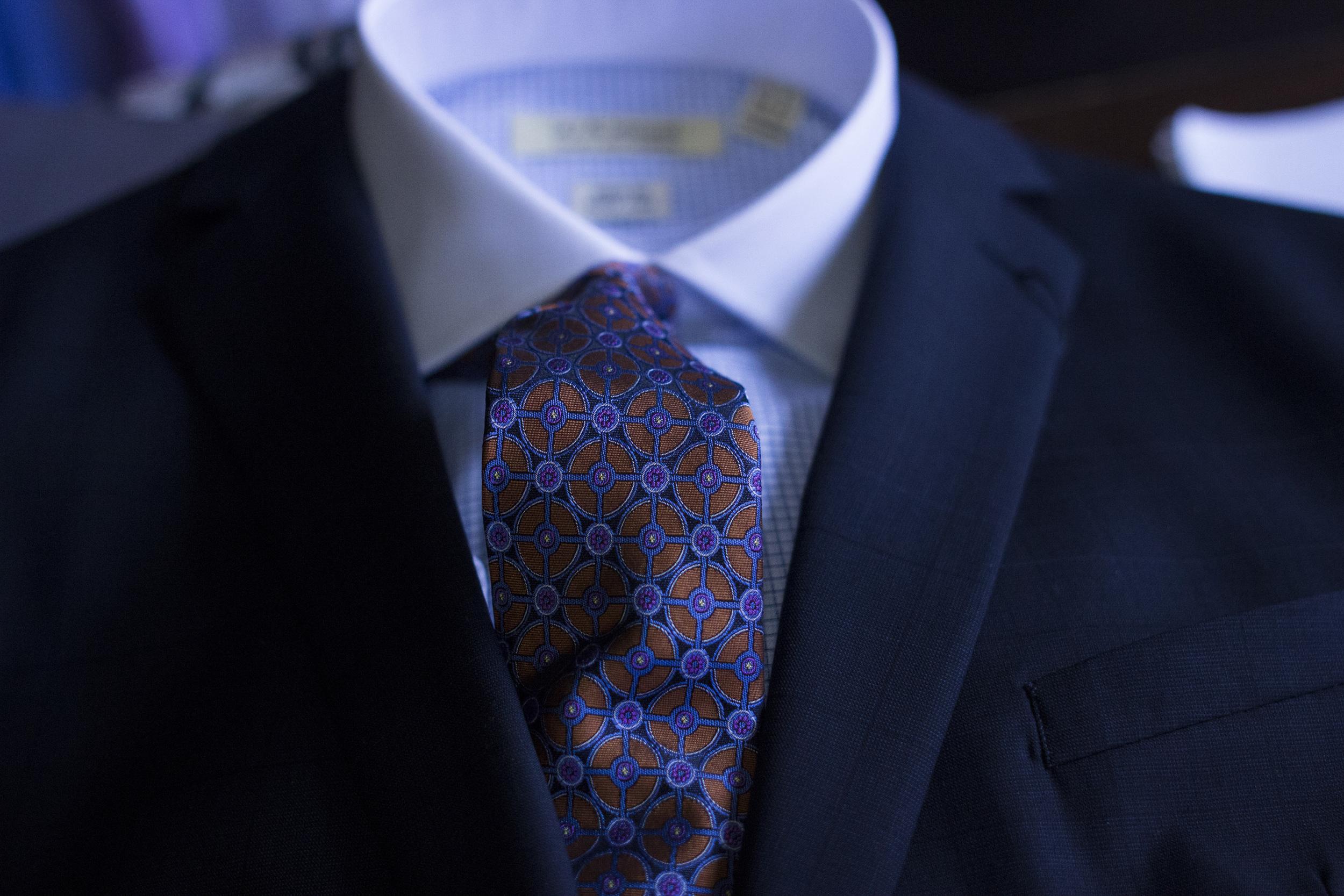 Blue suit look 1