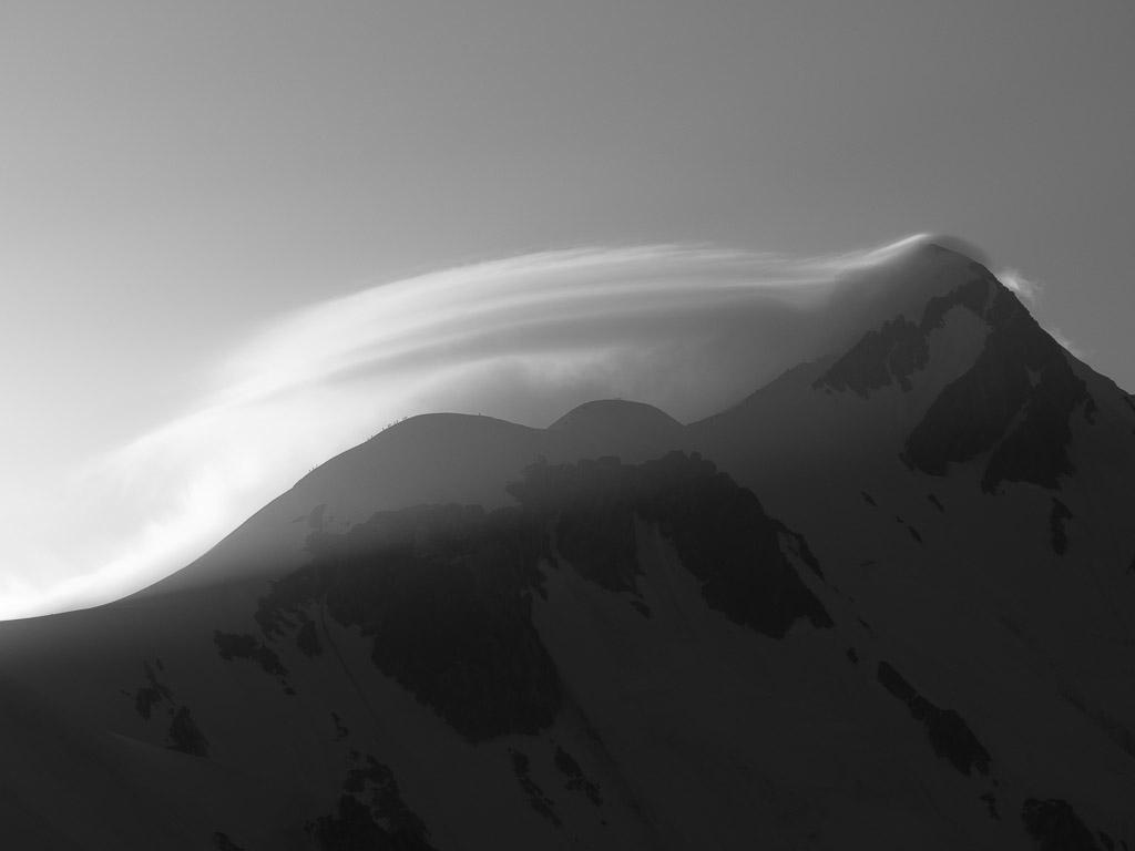 Aresta des Bosses e cume do Mont Blanc. Foto de David. Todos os direitos reservados.