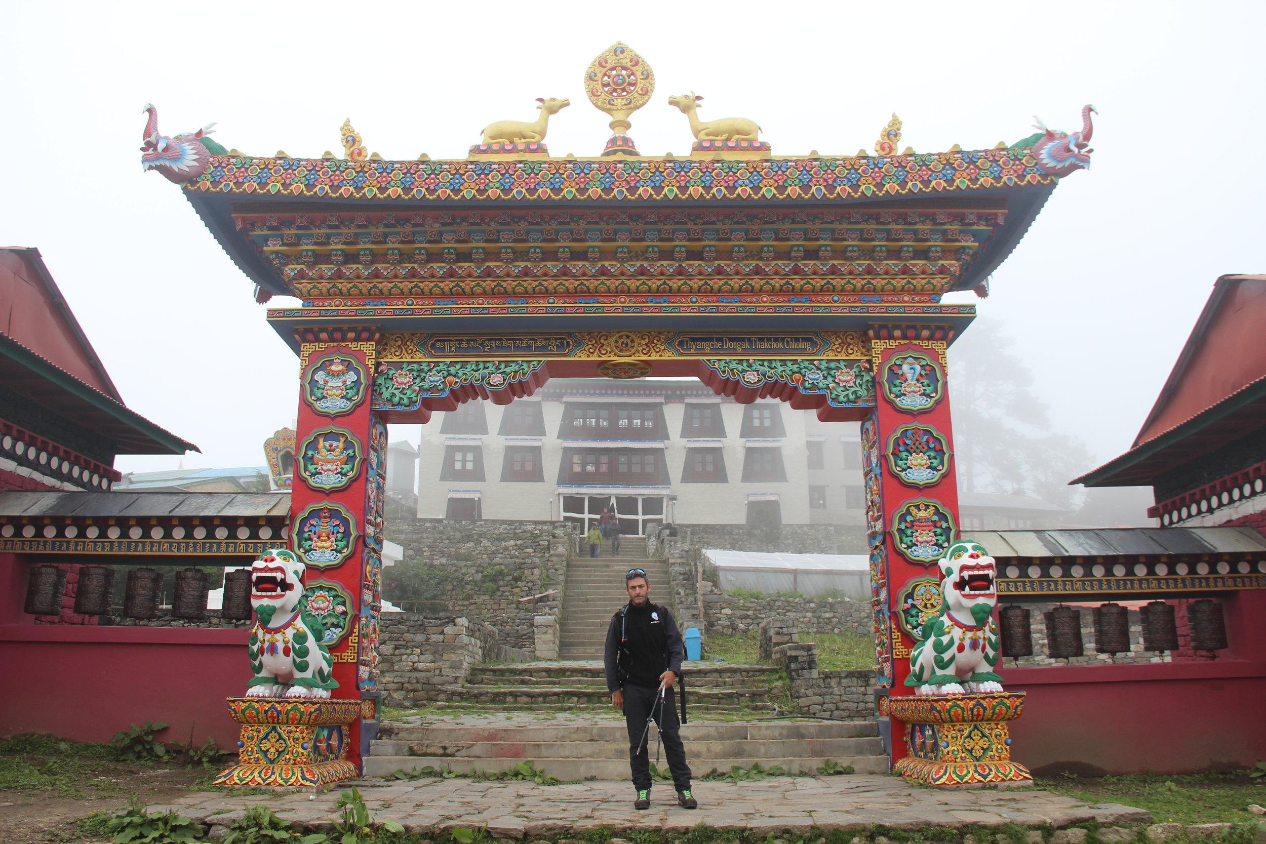Mosteiro budista em Tengboche, a 3860 metros de altitude