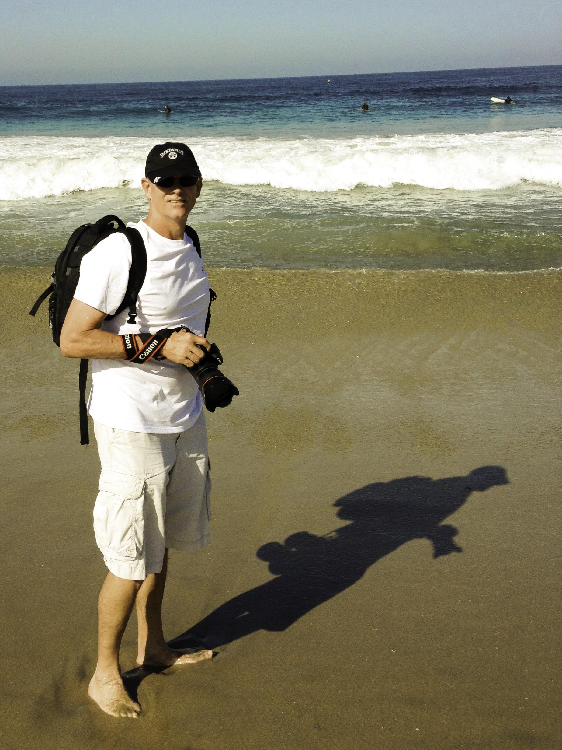 On a California beach...