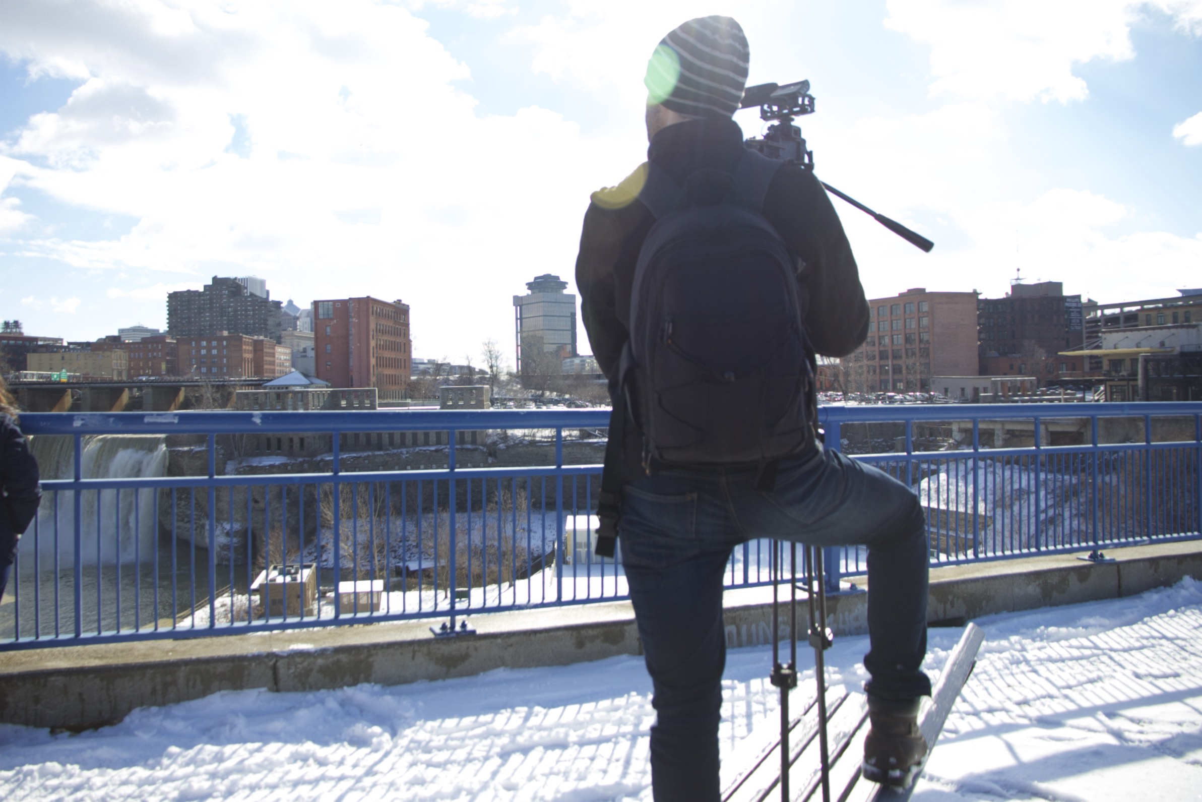 DPR Videographer Shawn Gray shoots no matter the weather.