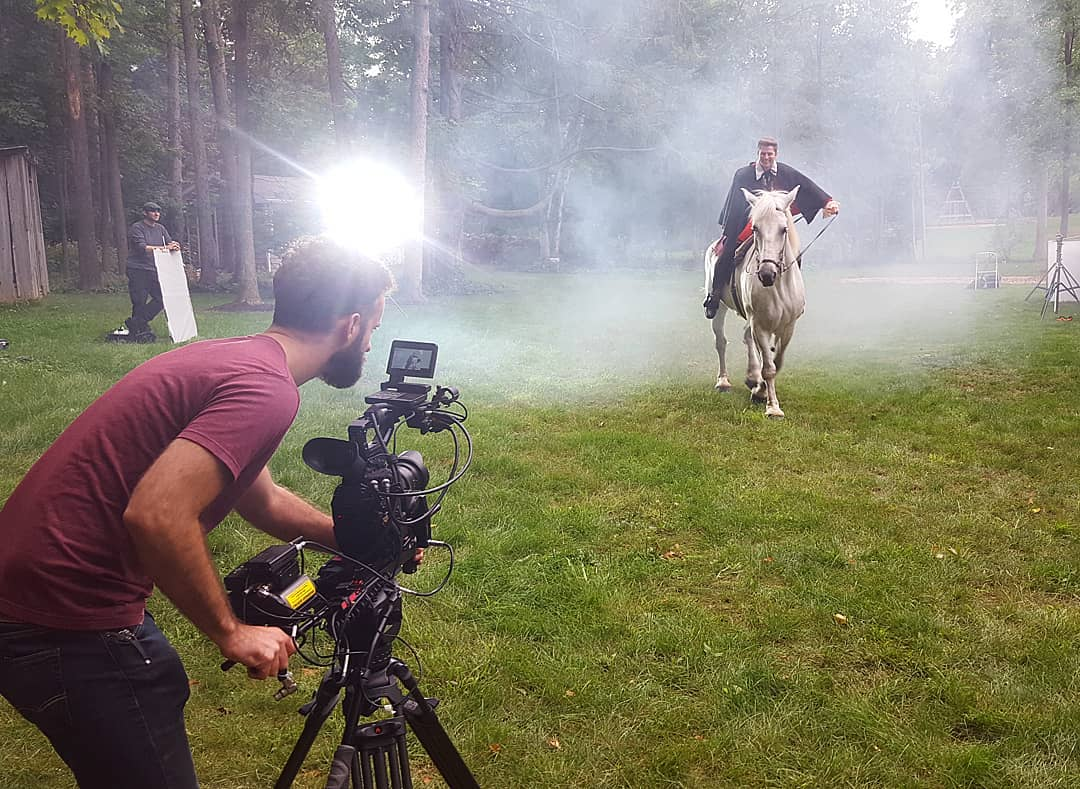 Shawn with Horse at film shoot.jpg