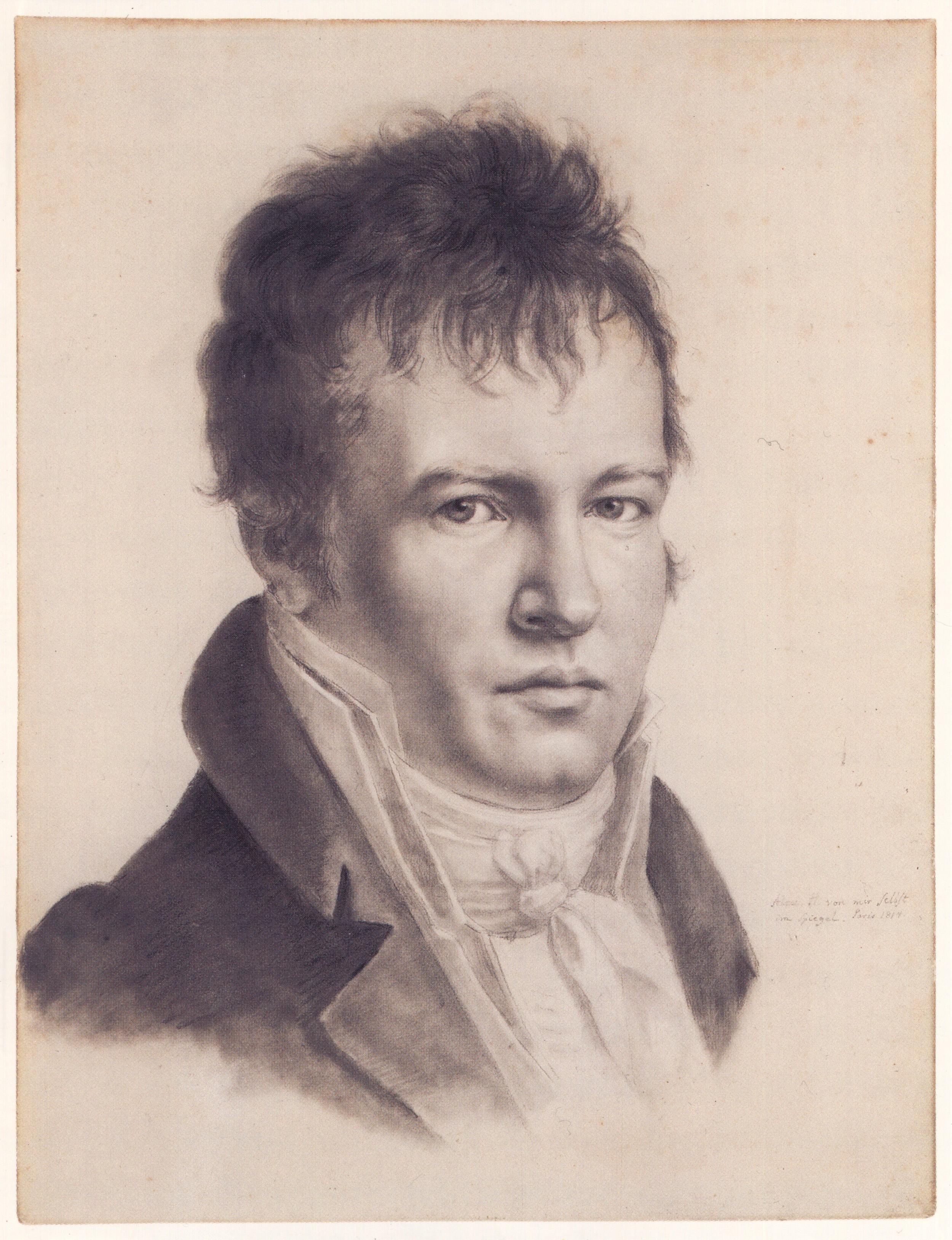 Alexander von Humboldt's self-portrait (1814)