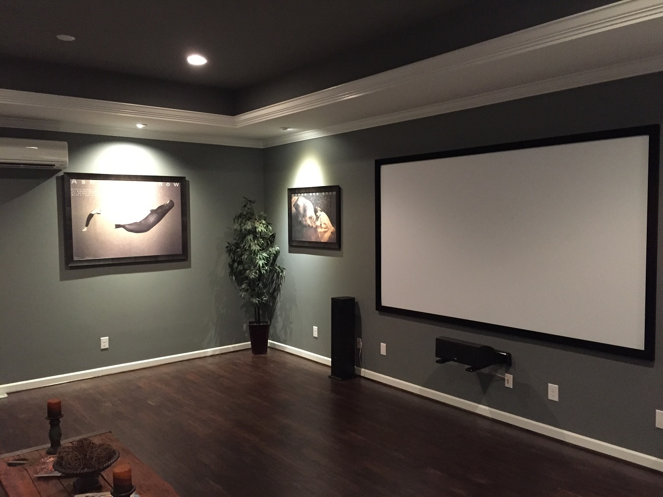 A look at the completed media room
