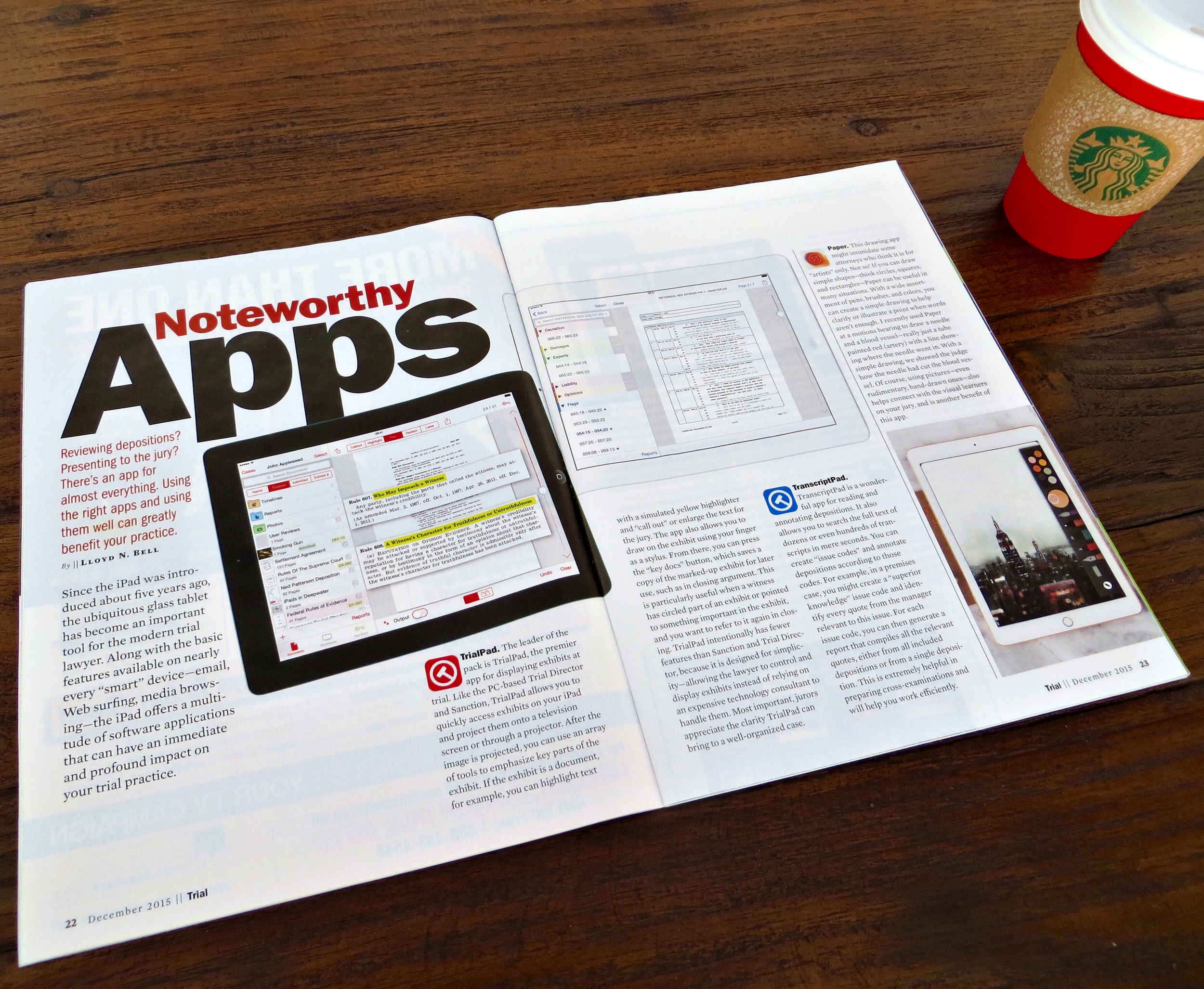 Noteworthy Apps - Trial Magazine - December 2015