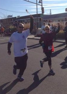 Sandi running a race with her son Lee!