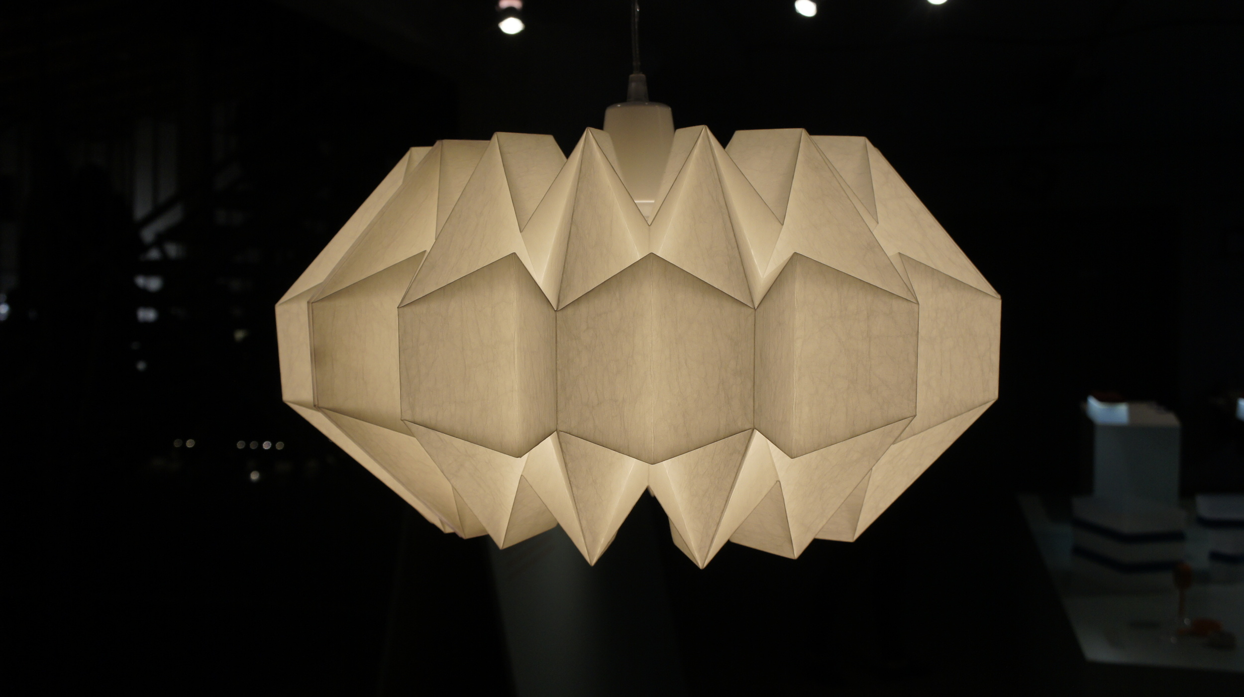 Origami inspired shade