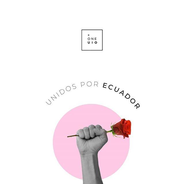 Llamamos a la paz, a la esperanza y al amor.  Estamos unidos por Ecuador.  #OneUio #IluminaTuMundo