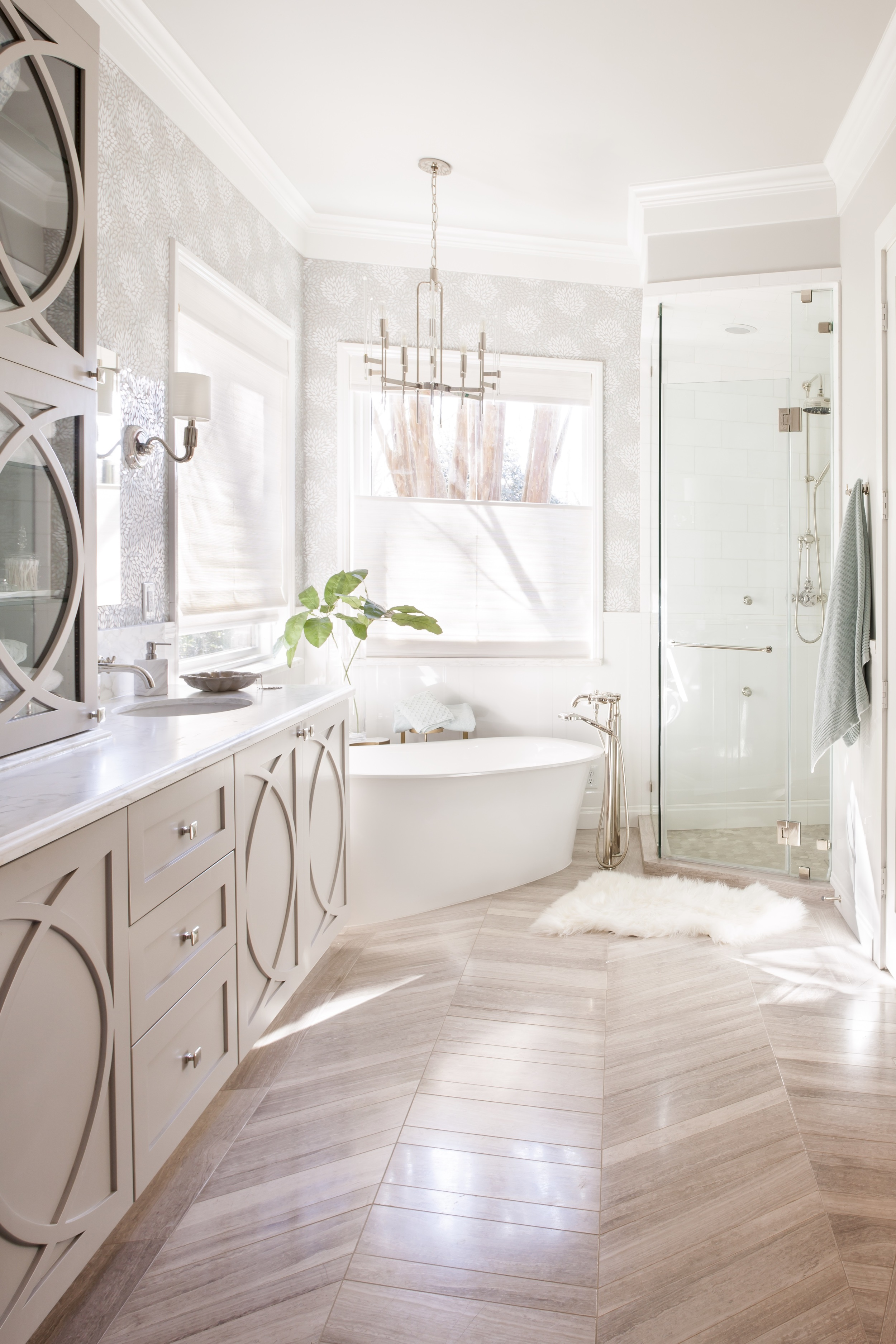 Painted Transitional Bathroom