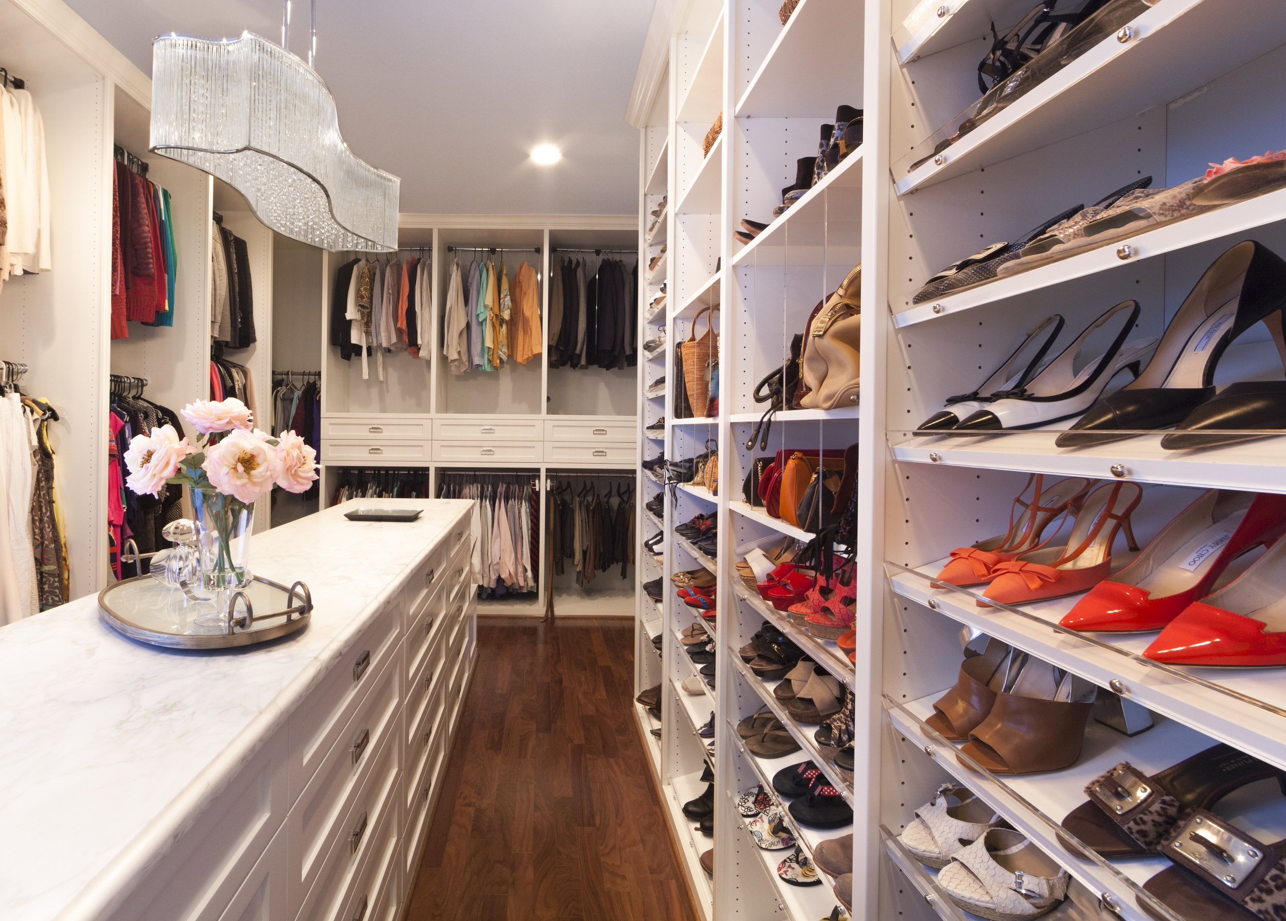 Painted Transitional Closet