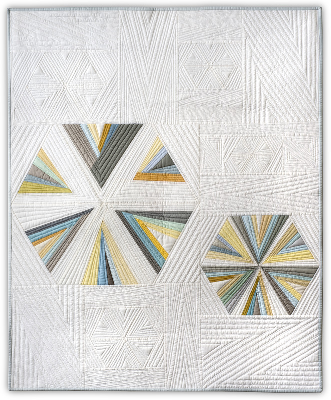 """August 2015 -""""Facets""""featured in the book """"Free-Range Triangles"""" by Gwen Marston and Cathy Jones"""
