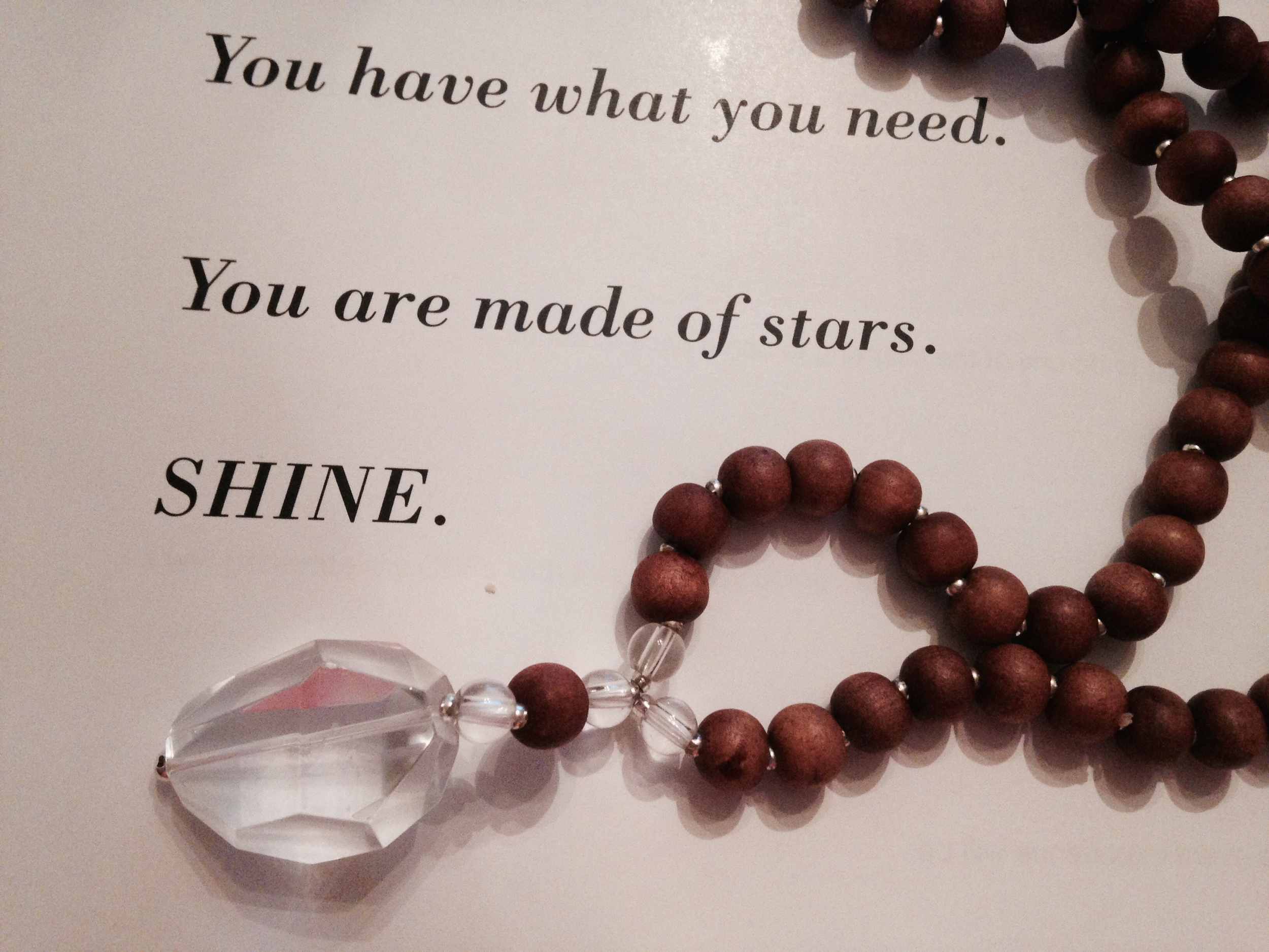 This is a page in The Desire Map facilitator guide. And my very lovely True Desire mala. LOVE.