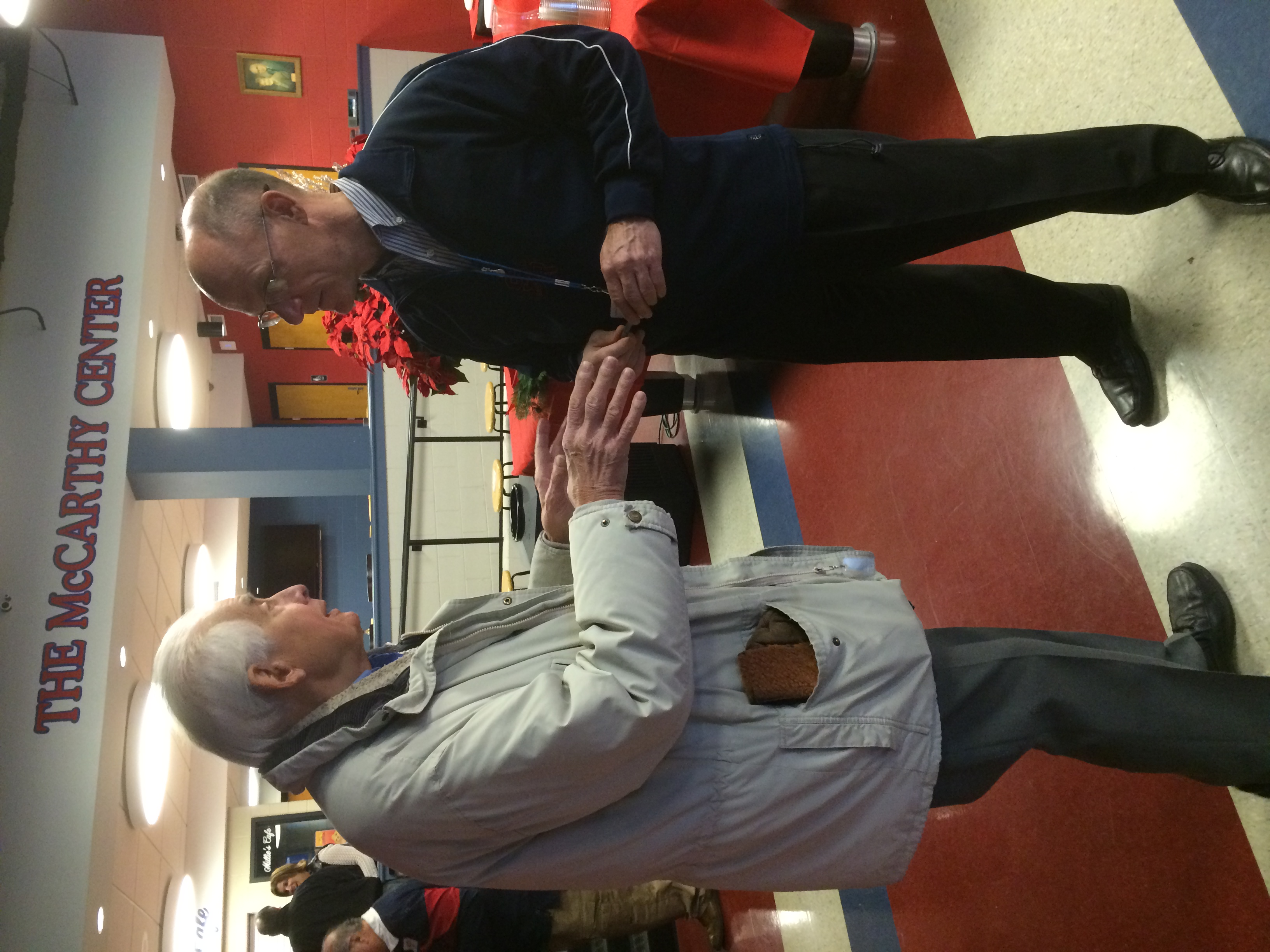 Dr. Joe Gowgiel '44 and John O'Neill '79, Director of Institutional Advancement