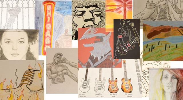 Art portfolio collage