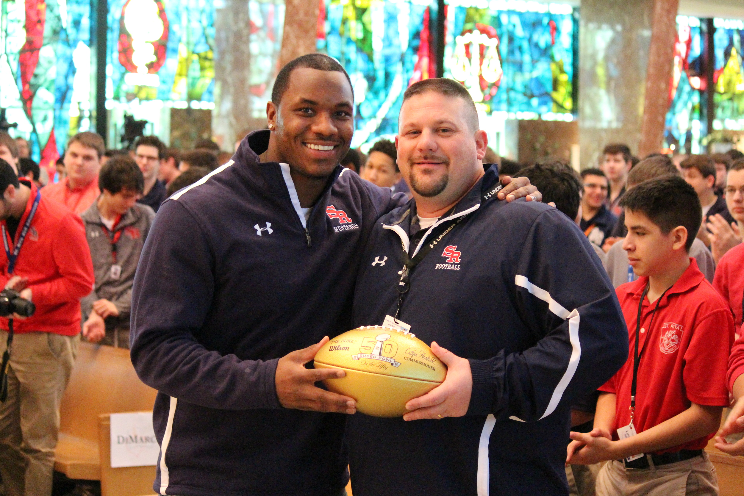 Darius Fleming '08 and Coach Todd Kuska '90