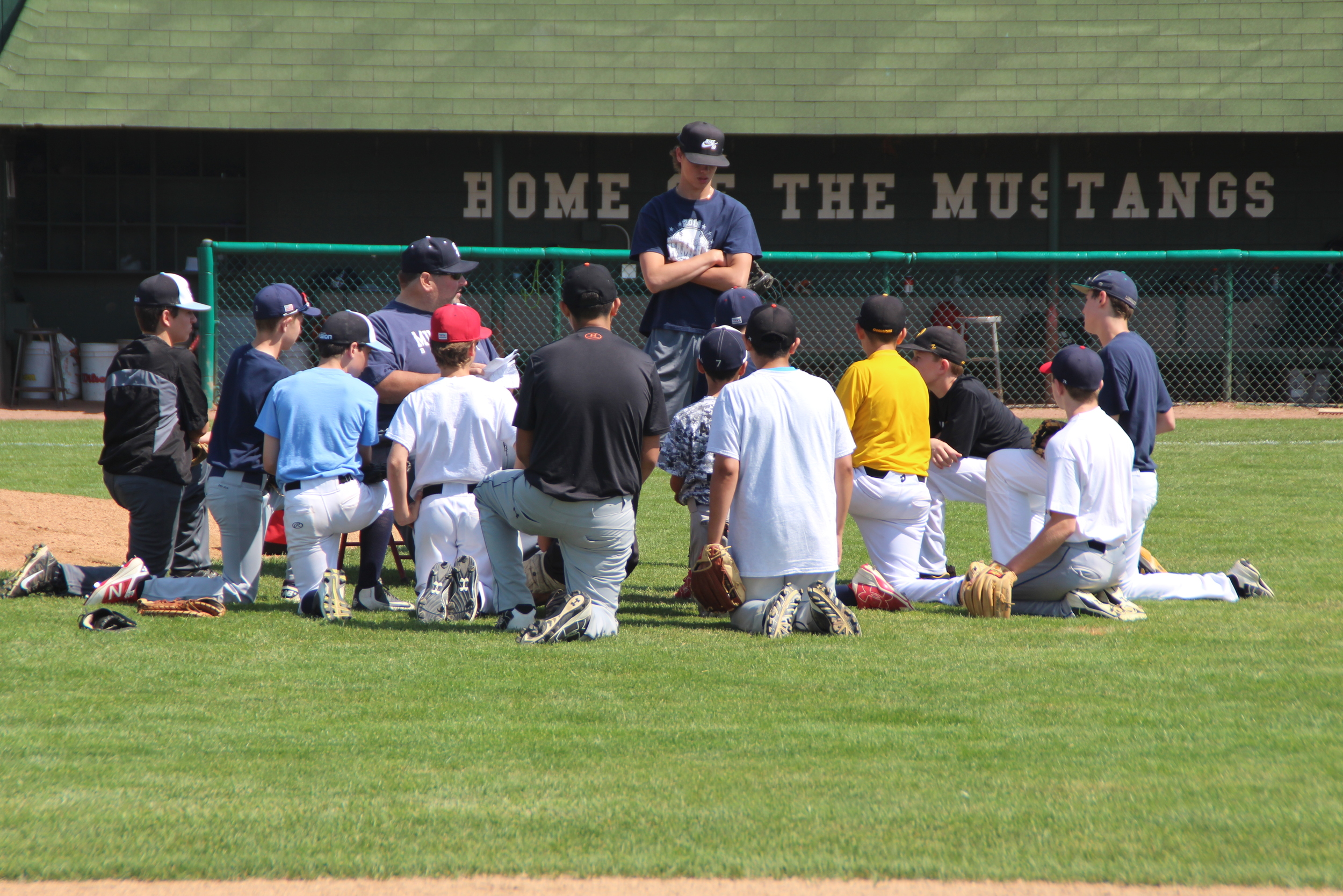 Summer Grammar-school baseball camp