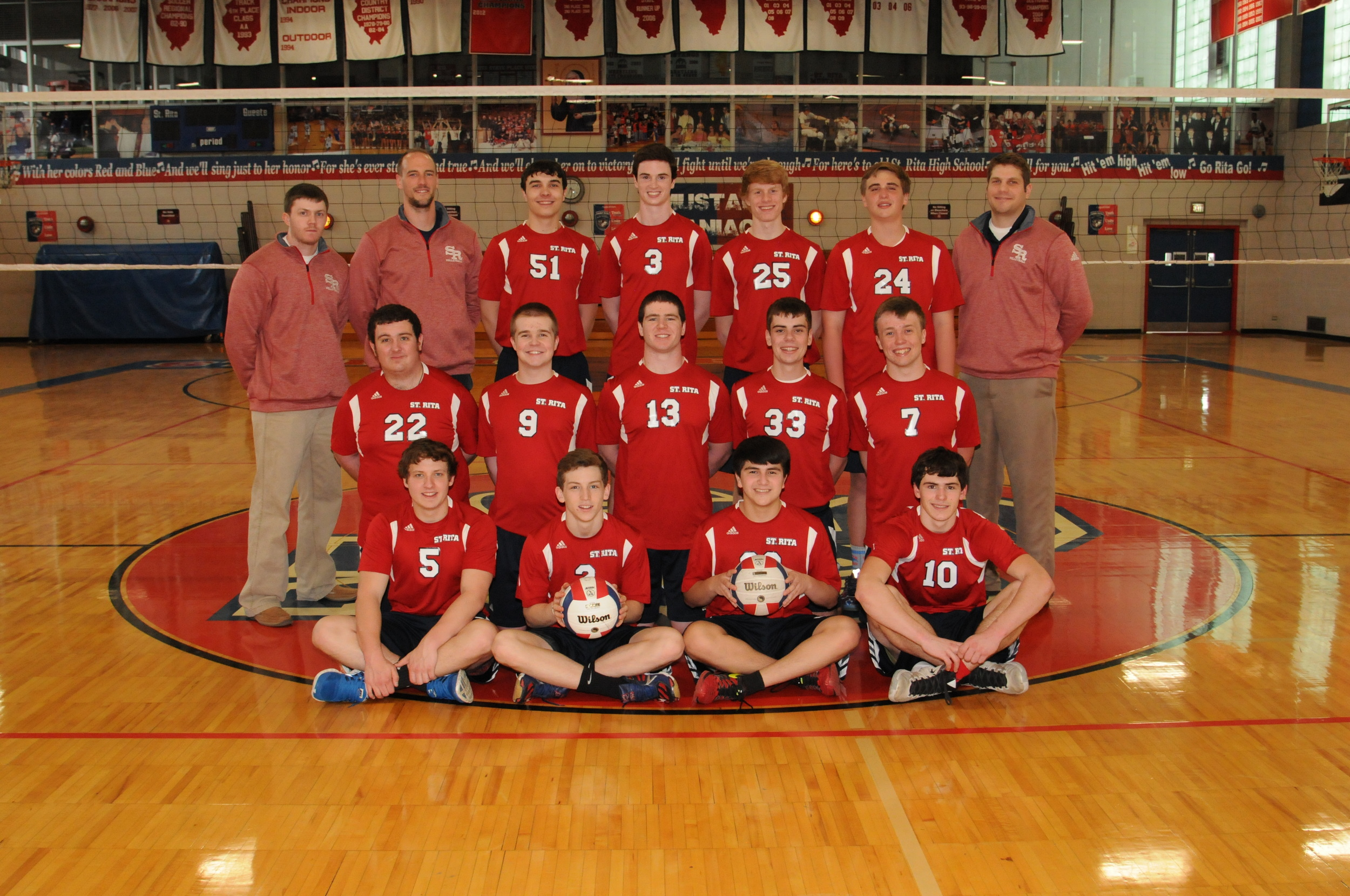 The 2016 St. Rita Varsity Volleyball Team - Co-Champions of the Chicago Catholic League