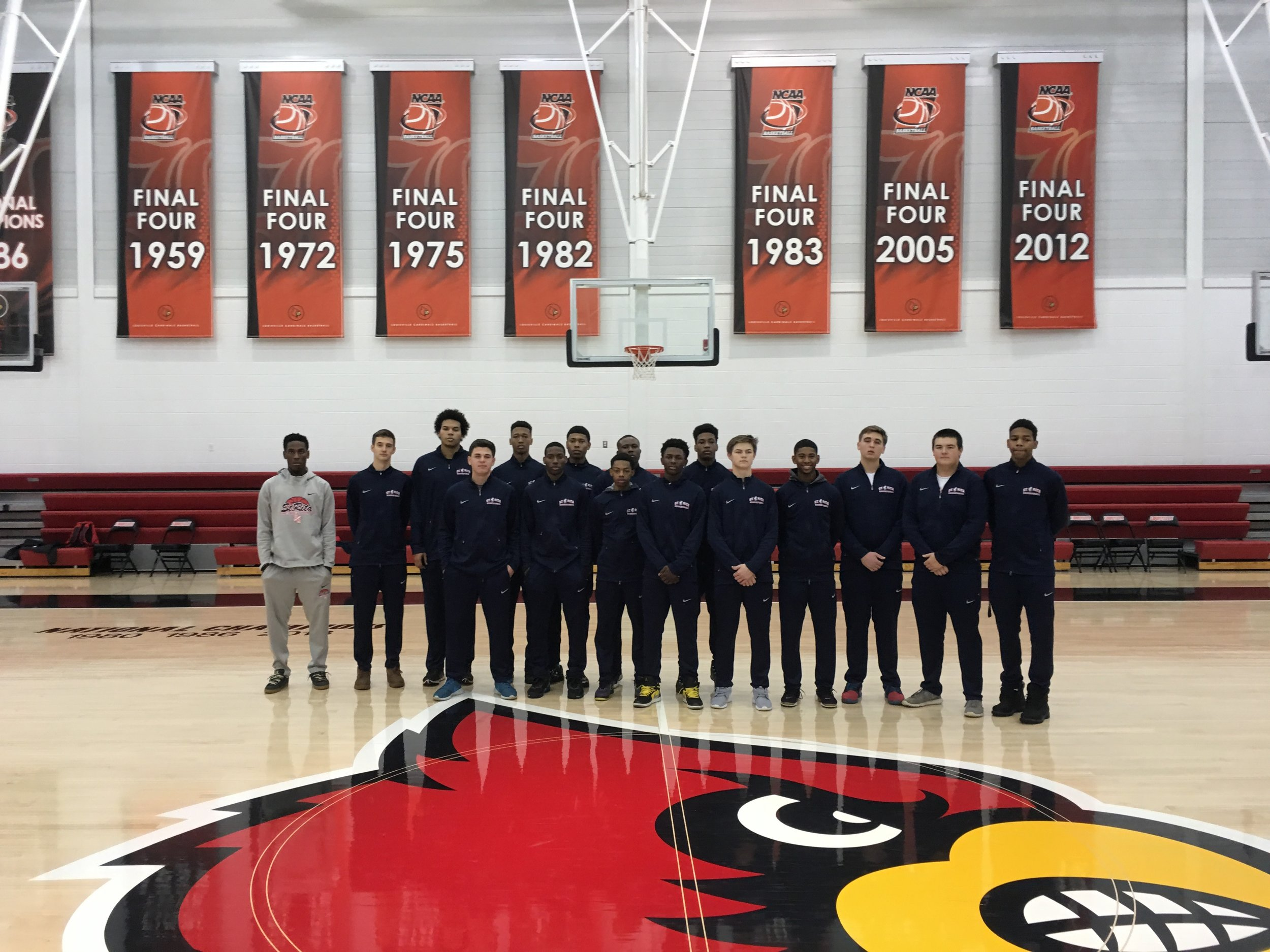 St. Rita Basketball at University of Louisville's practice facility
