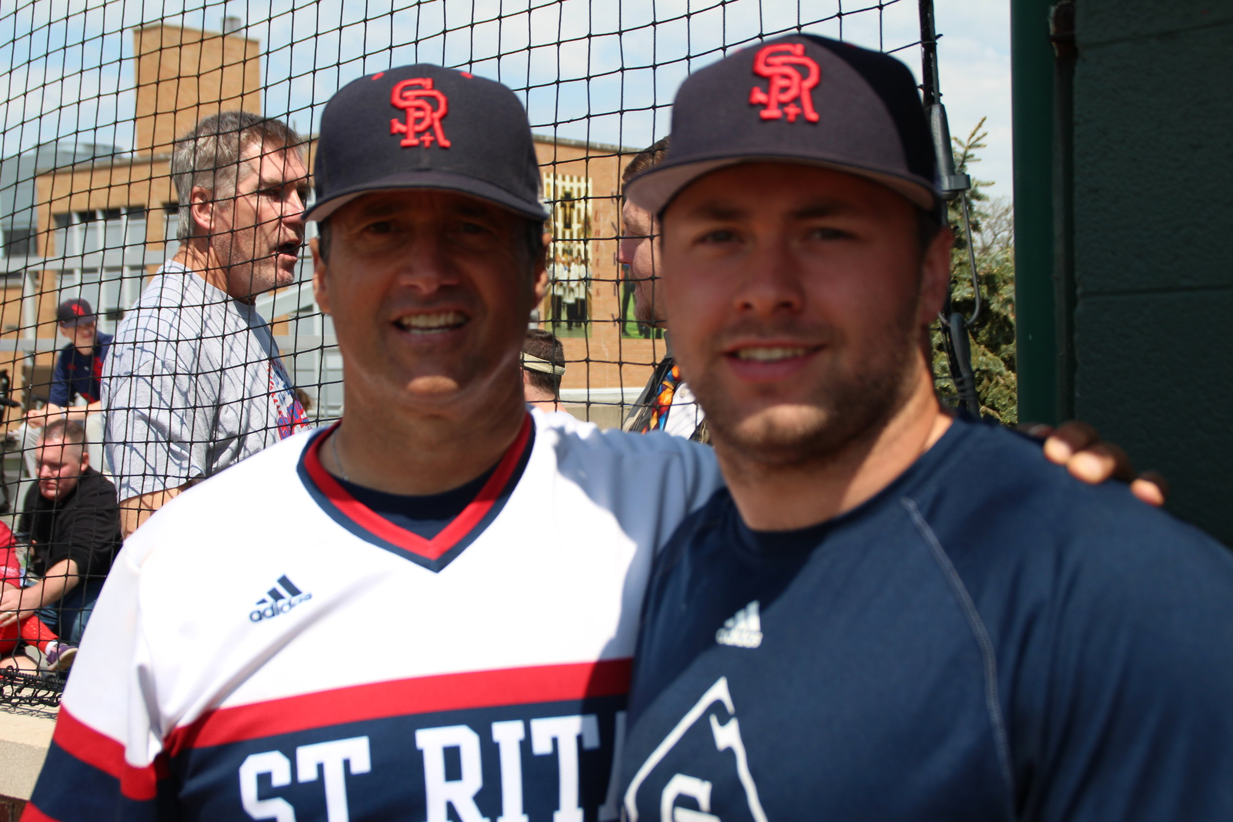 St. Rita Head Coach Mike Zunica and Assistant Coach Mikey Zunica '12