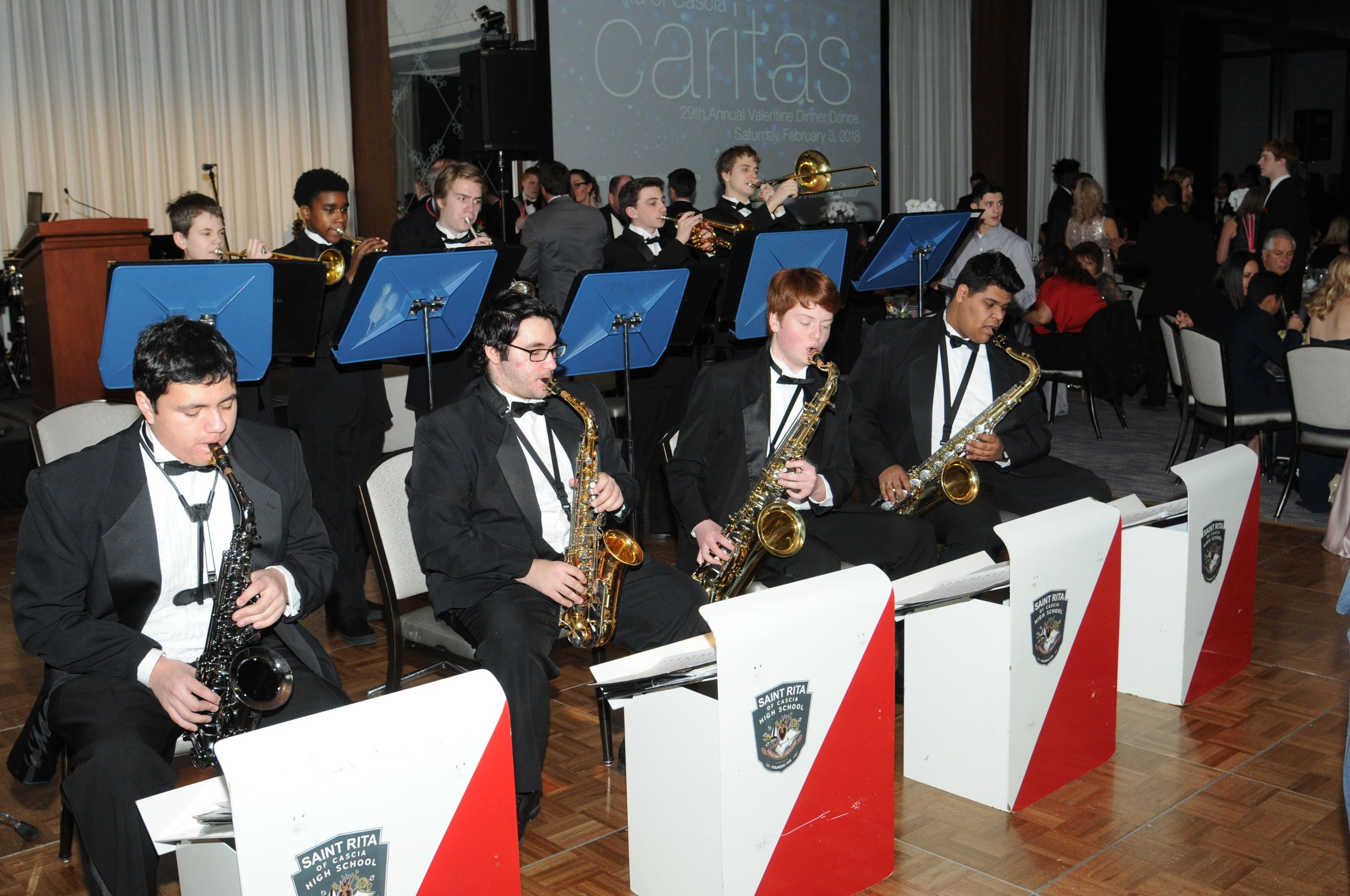 The St. Rita Jazz Band entertains the crowd.