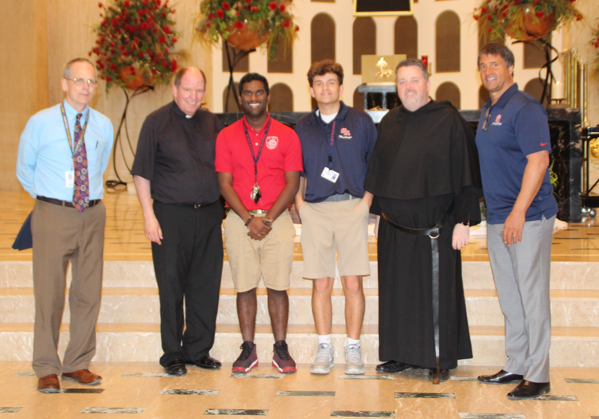 The  Rev. Thomas R. McCarthy, O.S.A. Campus Ministry Award  was given in recognition of exceptional dedication, leadership and service through Campus Ministry at St. Rita of Cascia High School during one's high school career. Recipients were: Victor Martinez and Stephen Viz.