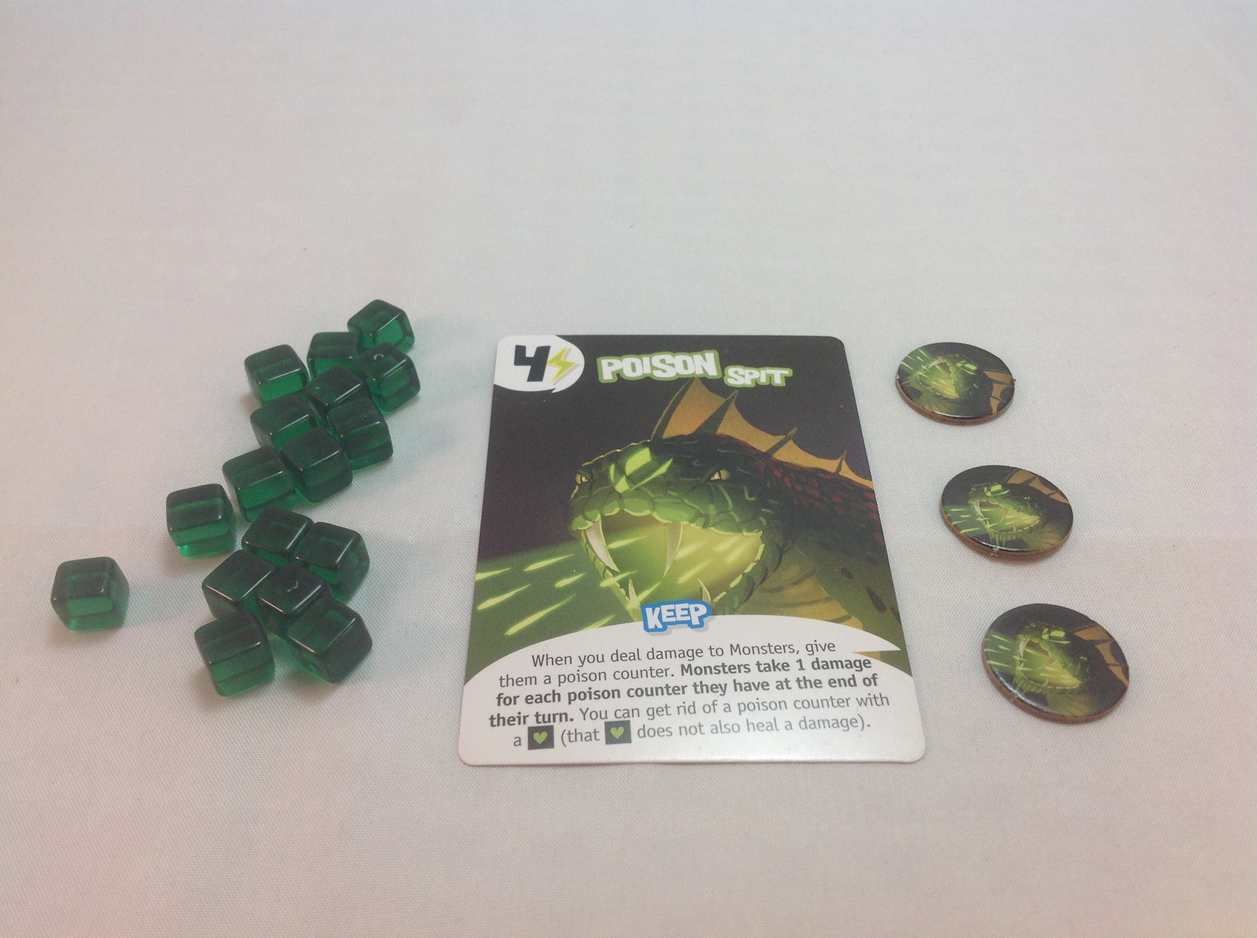 Energy cubes and poison counters.