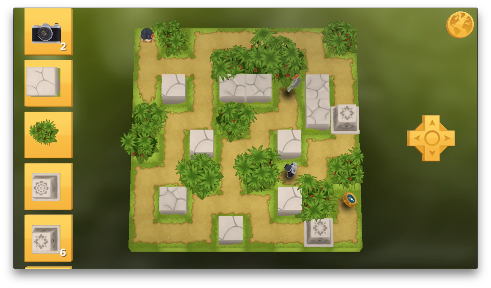 The final layout of the puzzlewith the same general layout as above