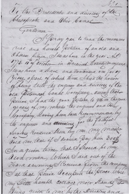 1829 letter written by George Pointer