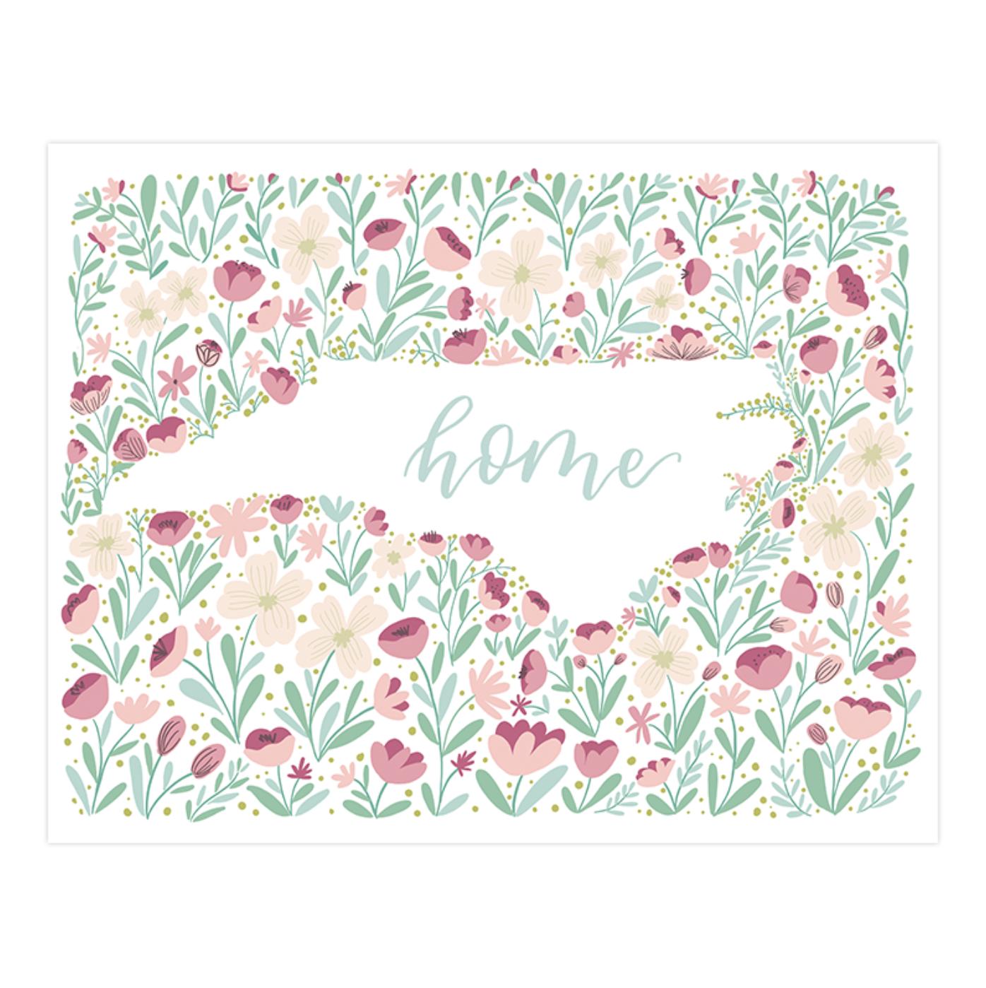 happy-tines-north-carolina-floral-art-print-8x10