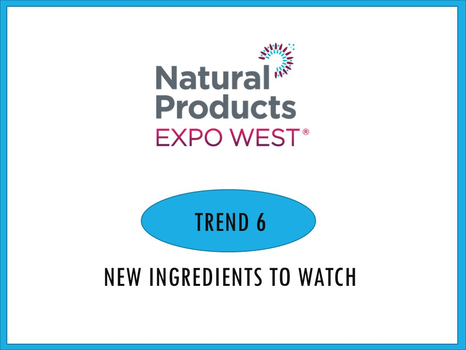 Looking beyond the burst of CBD based everything and looking for what might be coming next to our kitchens, two new ingredients stood out at Expo West. Both were new to me and have that right balance of great taste with desirable and interesting nutritional benefits.