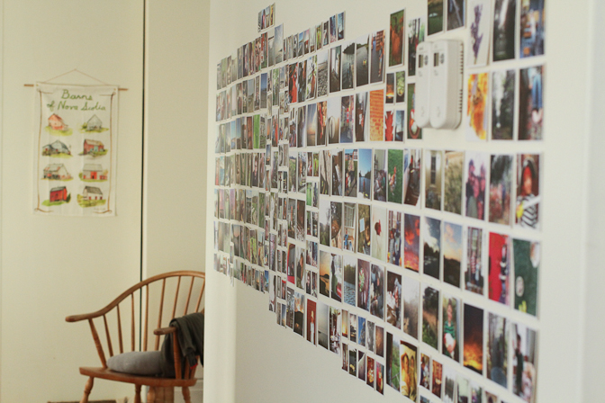 One large wall in the dining room is now covered with prints of my Instagram pictures. I love that everyone stops to look and enjoy them, and that the boys have fun remembering places we've been and things we've done when they look at them.