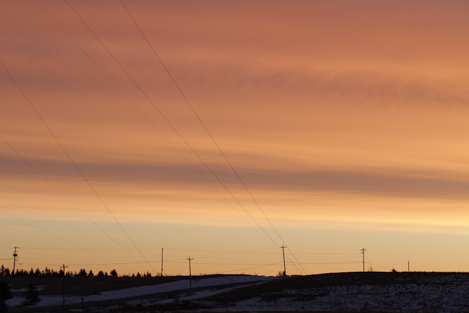 wires sunrise