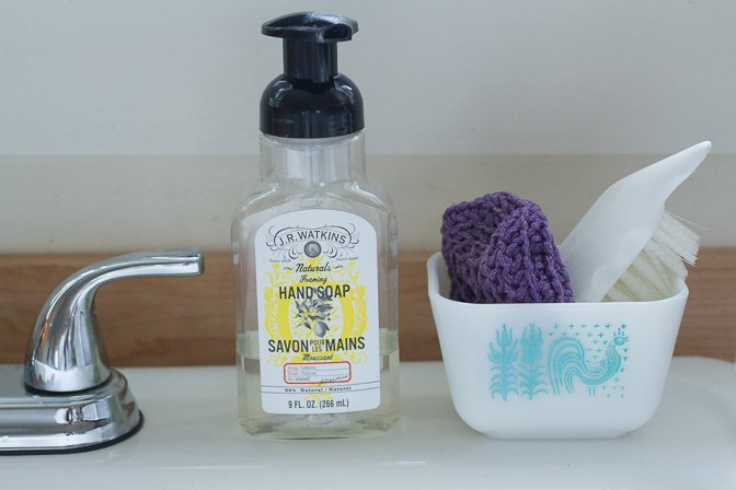 soap at sink