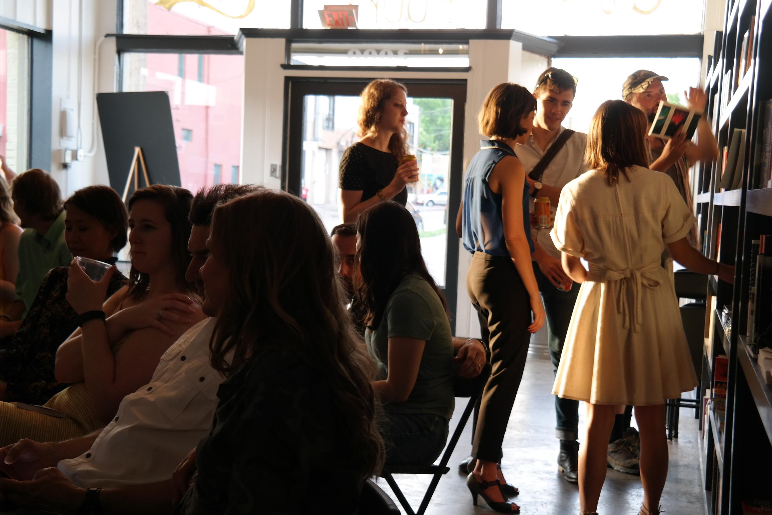 An Austin crowd in Deep Ellum