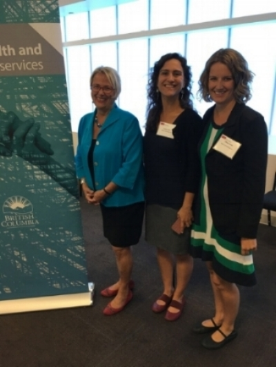 From left to right: the Honourable Judy Darcy, BC Minister of Mental Health and Addictions; Larissa Coser, associate with Wave Consulting; and Chloe Straw, Managing Director of Wave Consulting.