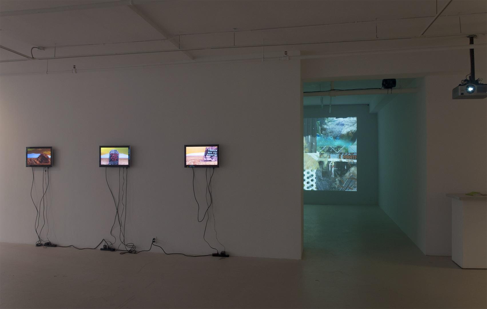 Neon Land , Brianna Lowe, 2014 // Indirect Flights , Joe Hamilton, 2015