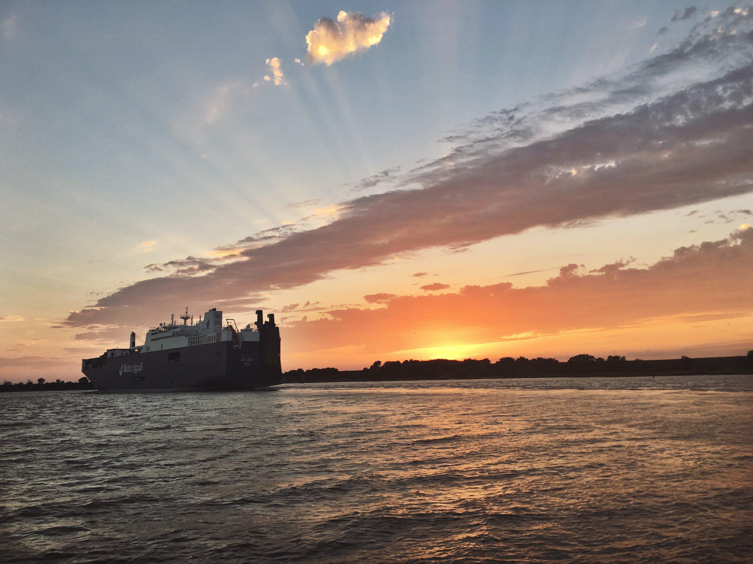 Sunset cruise in Savannah