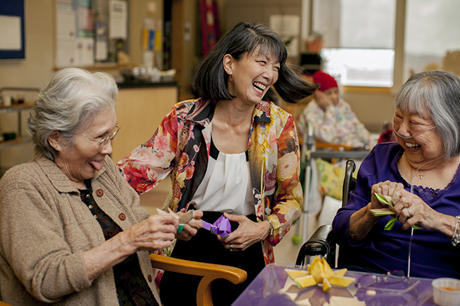 Washington State Representative Sharon Tomiko Santos at her place of special meaning  –  Keiro Nursing Home, Seattle.