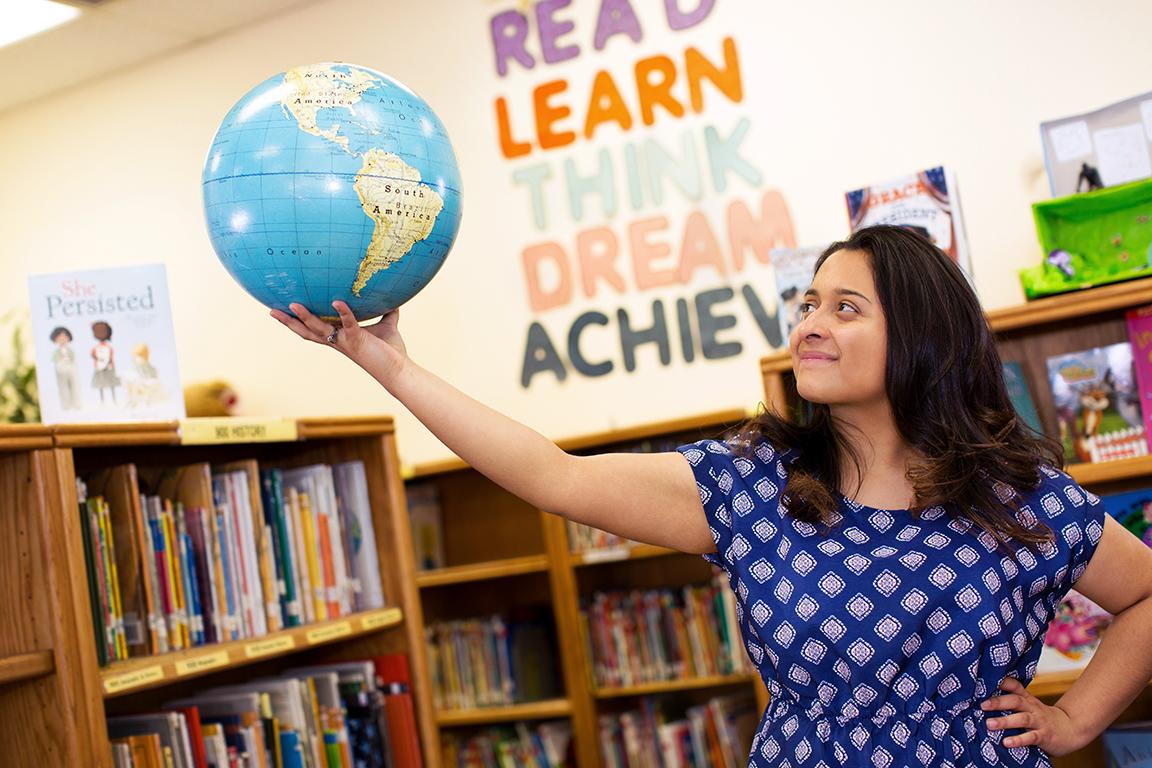 Santa Rosa Elementary School Library, New Mexico