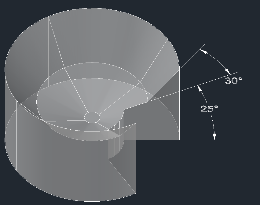 Figure 7: Assay device with two surfaces separated by a precise angle