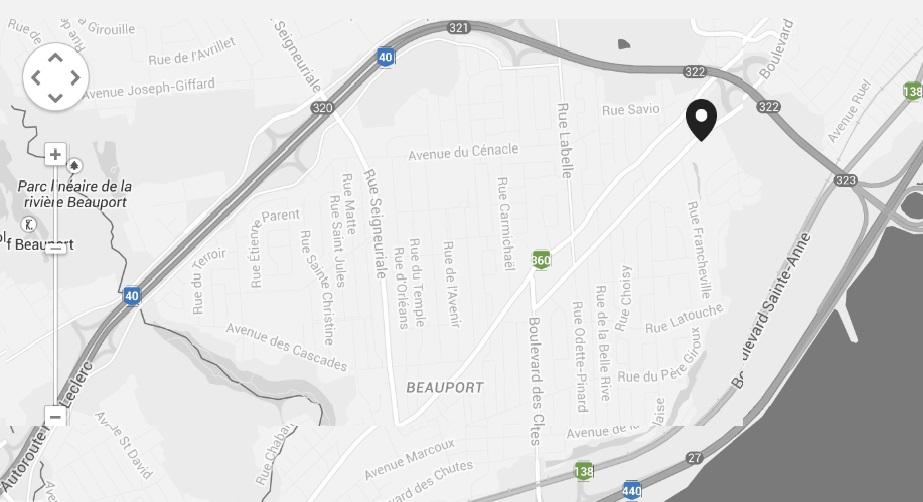 CONDO beauport Québec 103-1300 BOULEVARD DES CHUTES localisation