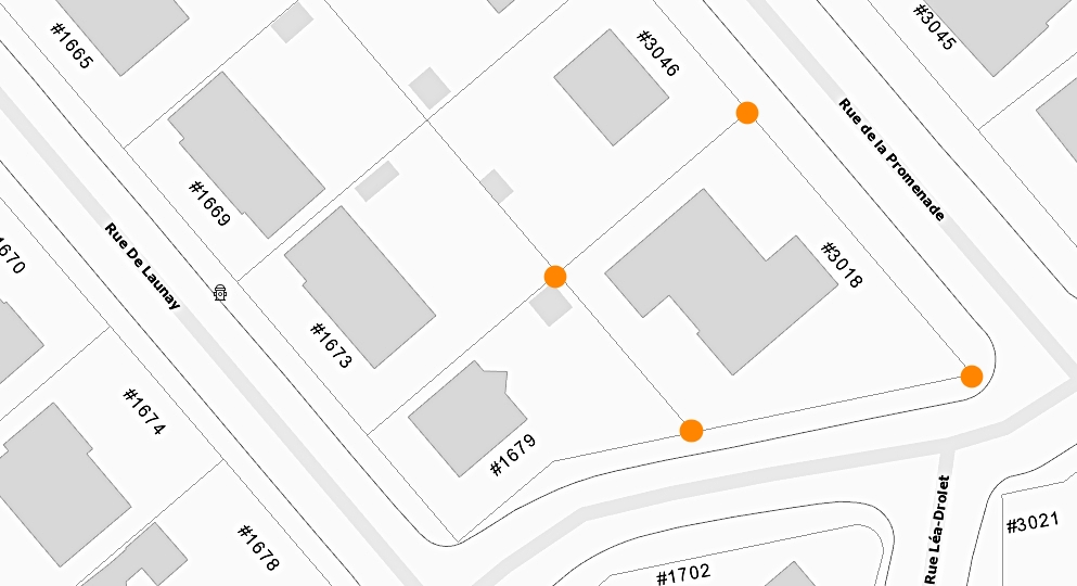 Maison à vendre Québec secteur St-Louis 3018 Rue de la Promenade Plan carte de la ville de Québec