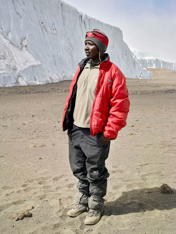 Venance 'Gonzo' Mtui, Glacier Camp, 5760 meters