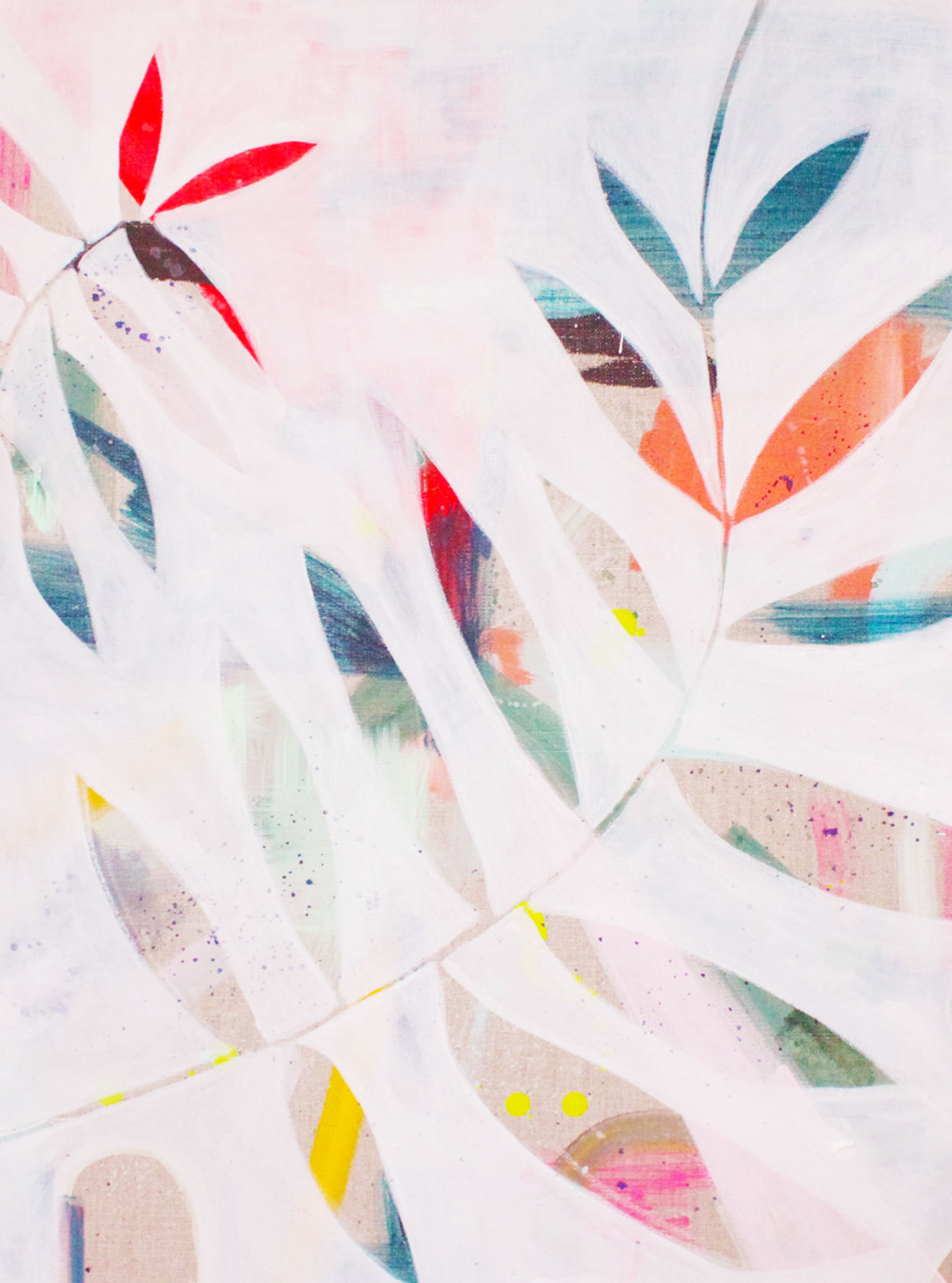 Secret Heart, acrylic and gouache on linen canvas