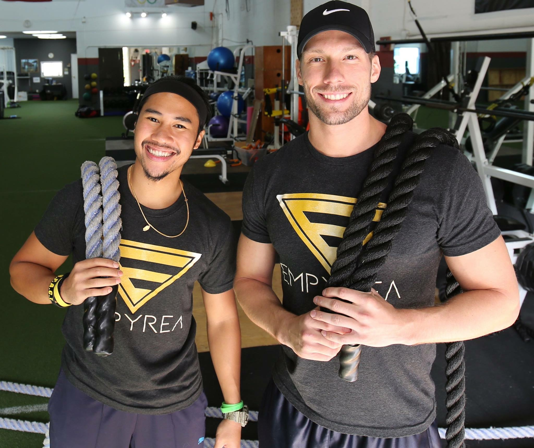 Co-Owners of Empyrea Group Training : (Left)  Carl Anthony Grande,  B.S., NASM CPT, PES and  (Right)  Justin Marrone,  B.A., NASM CPT, Precision Nutrition Level 1 Coach