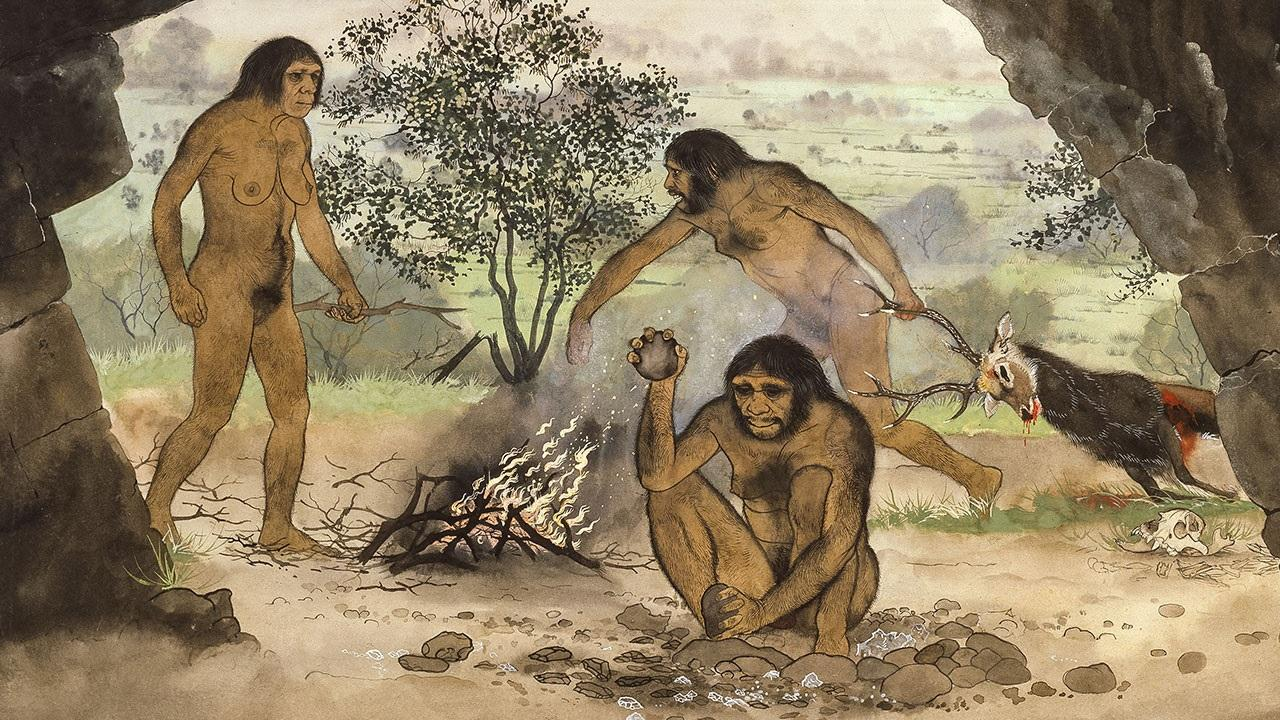 Cavemen Eating Meat.jpg