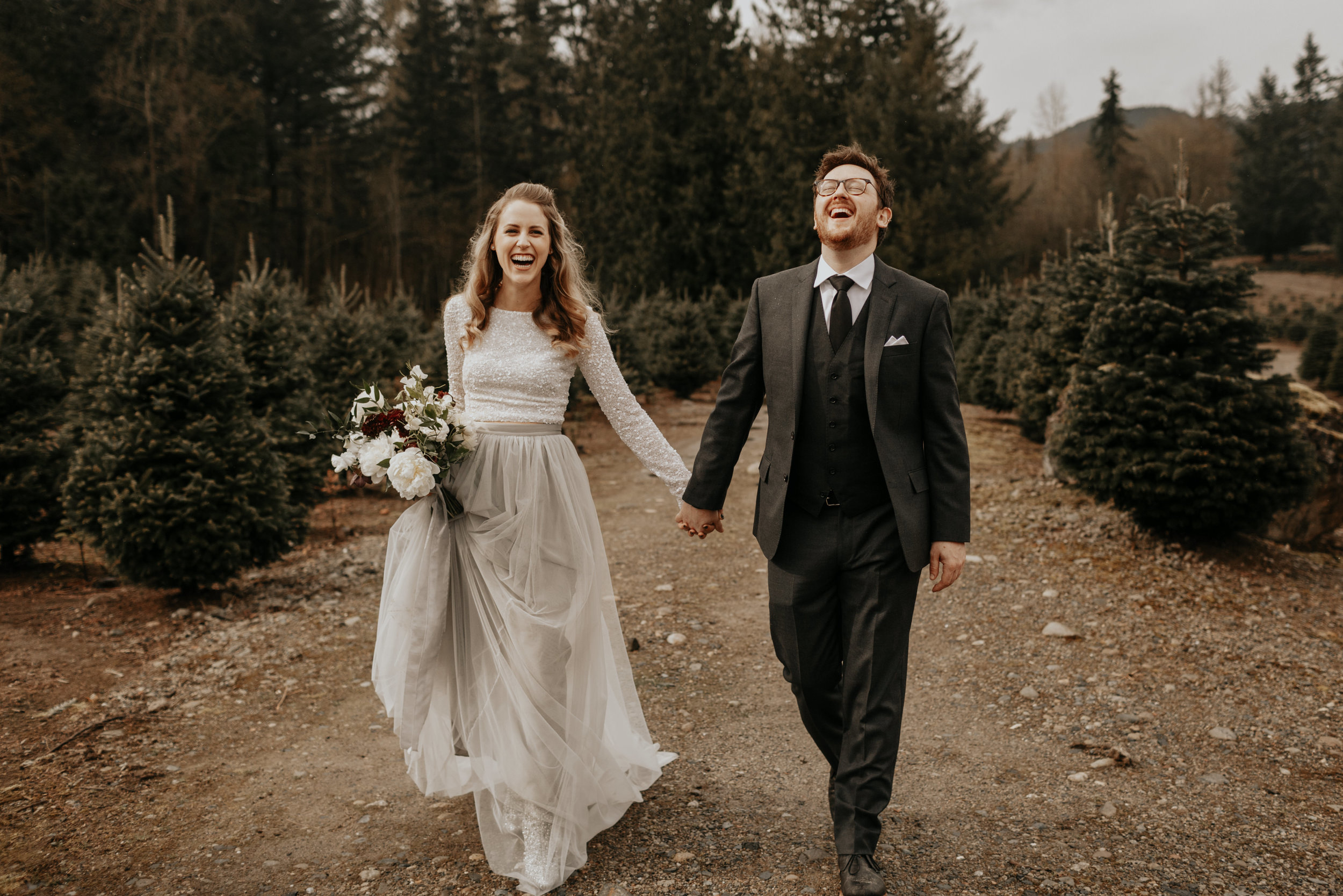Courtny + Ryan  PNW Tree Farm Wedding