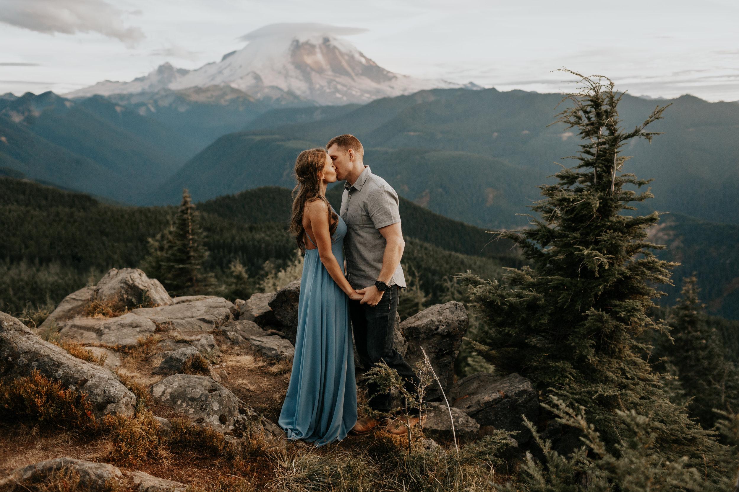 Kat + John  Mountain Top Engagement