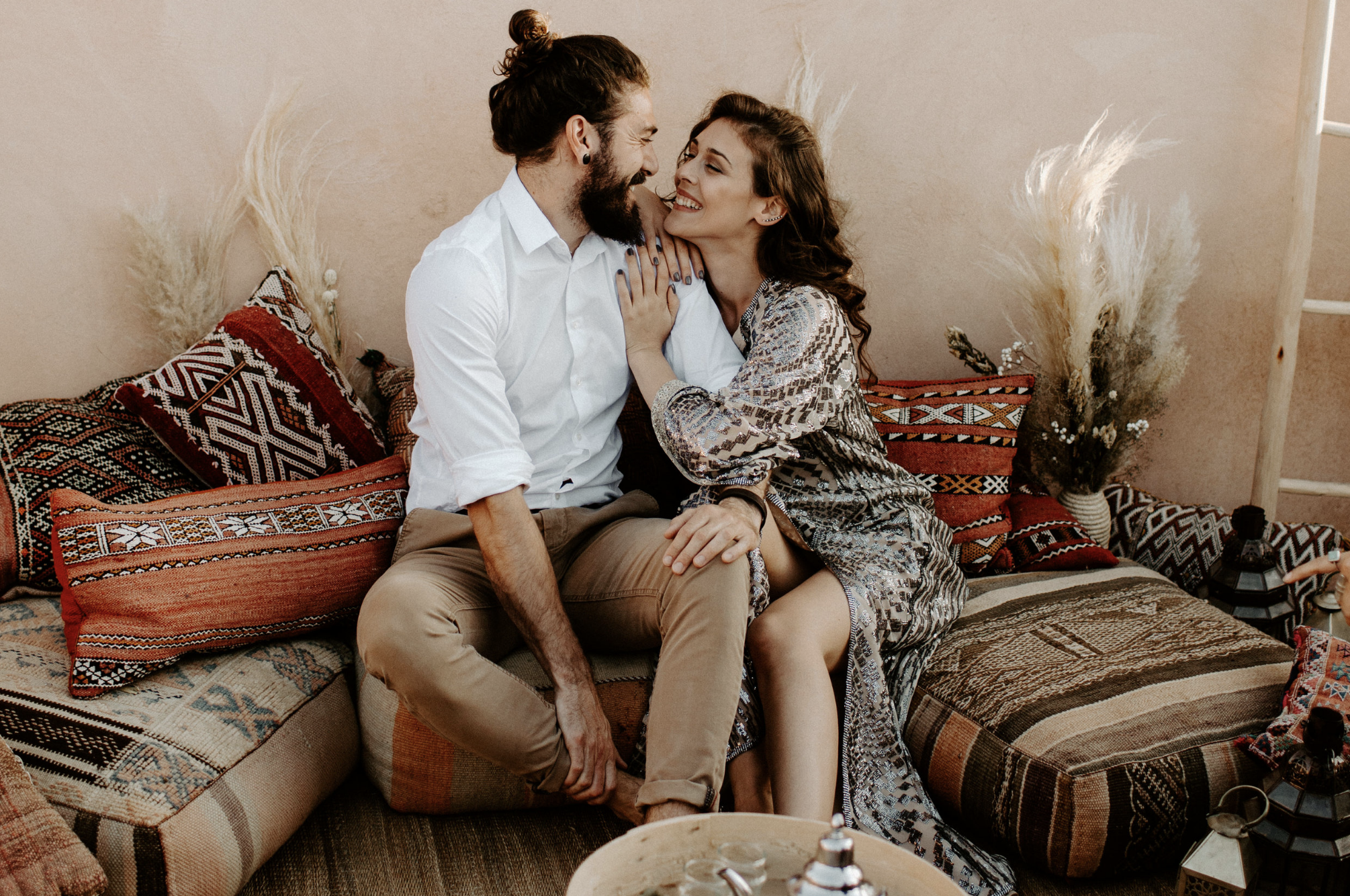 Moroccan Rooftop Couples Session   Marrakesh