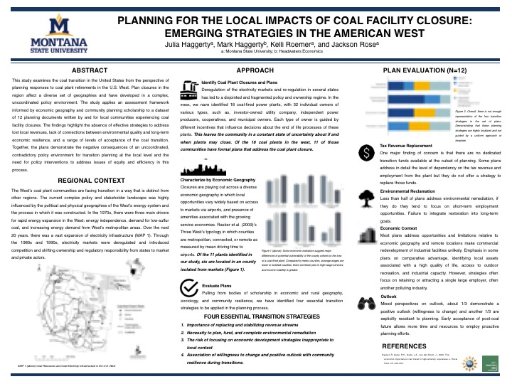Planning for Local Impacts of Coal Facility Closure
